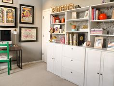 Get tips from HGTV.com experts on how to organize your home office no matter what room it's in.