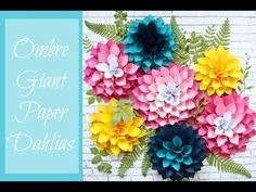 Mama's Gone Crafty: DIY Giant Dahlia Paper Flowers- How to make a flower wall.