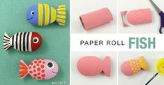 Create a cute paper roll fish using this simple step by step tutorial. This is a fun way to upcycle your cardboard tubes and makes a great DIY toy for kids. Crafts For Kids To Make, Crafts For Teens, Crafts To Sell, Art For Kids, Diy And Crafts, Arts And Crafts, Paper Crafts, Kid Art, Under The Sea Crafts