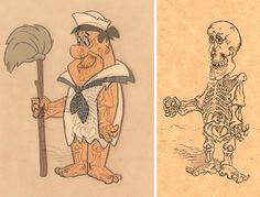 Fred Flinkstone | Veja como seria o esqueleto de 15 personagens de desenhos animados