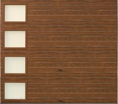 Clopay Modern Steel Collection garage door with Ultra-Grain wood-look finish. www.clopaydoor.com