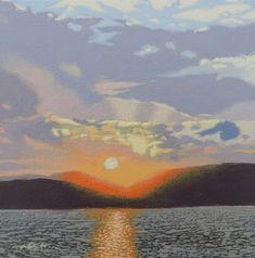 & Scottish Sunset& Original acrylic painting on canvas board. Acrylic Painting Canvas, Canvas Art, Original Paintings, Original Art, Over The Hill, Nature Paintings, Beautiful Sunset, Impressionism, Buy Art
