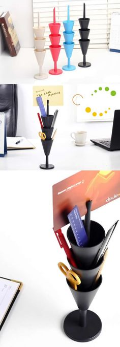 3 Tier Office Desk Organizer Pen Pencil Holder