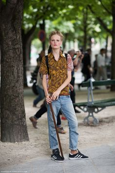 Always thought canes were underrated accessories. Hanne Gaby http://carolinesmode.com/stockholmstreetstyle/art/246982/hanne_gaby/