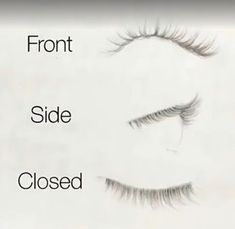 Eyelash guide from different angles realistic style #Drawingtips