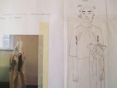 Fashion Sketchbook - fashion illustration & draping development; fashion student portfolio // Hugh Finnerty