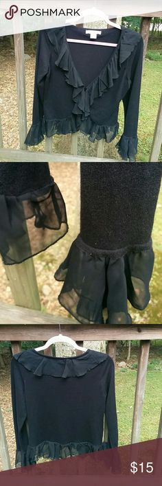 Black cardigan, romantic and practical This black cardigan adds romantic tone to any outfit Sweaters Cardigans