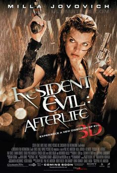 Milla Jovovich in Resident Evil: Afterlife Film Movie, Hd Movies, Horror Movies, Streaming Movies, Action Movies, Best Zombie Movies, Great Movies, Resident Evil 2002, Resident Evil Movie Series