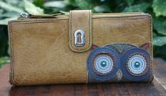 FOSSIL OWL LEATHER WALLET  VINTAGE RARE in Clothing, Shoes & Accessories, Women's Accessories, Wallets | eBay