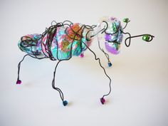 Using wire and mixed media (fabric, beads etc) to create minibeasts and bugs! Excellent session for enabling children to manipulate materials and explore how sculpture stands.
