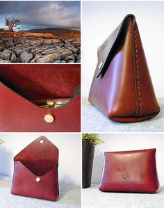 UK Handmade leather wallet and handbag