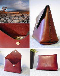 UK Handmade leather wallet and handbag