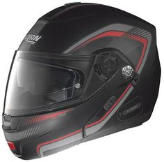 Nolan helmets are the standard in #Motorcycle_Helmets, offering the greatest versatility and convenience of motorcycle helmet. Get your #Nolan_N_91 Revenge Helmet - Flat Black/Red at HelmetCity.com.