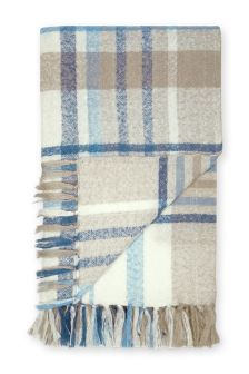 Buy Blue And Natural Check Blanket from the Next UK online shop Latest Fashion For Women, Mens Fashion, Tartan Pattern, Blue Beach, How To Get Warm, Next Uk, Autumn Home, Uk Online, Scrappy Quilts
