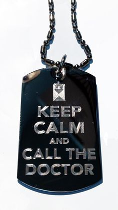Keep Calm and Call The Doctor Tardis Box - Military Dog Tag, Luggage Tag Metal Chain Necklace >>> Want additional info? Click on the image.