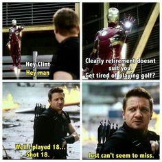 Clint/Hawkeye being a badass mf Marvel Funny, Marvel Memes, Marvel Dc Comics, Marvel Avengers, Ms Marvel, Captain Marvel, Johnlock, Destiel, Fangirl