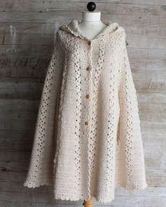 Long Hooded Cape Crochet Pattern - Maggie's Crochet
