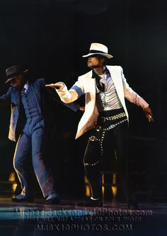 Michael Jackson in Smooth Criminal during the Bad Tour