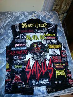 Combat Jacket, Battle Jacket, Punk Jackets, Denim Jackets, Biker Patches, Biker Leather, Thrash Metal, Band Merch, Shopping Websites