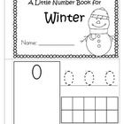 Little Number Book for WINTER 0-10