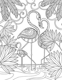 "Here's a selection from the 55 illustrations I made for the agenda semaines pour me donner des ailes"" (mon […] Make your world more colorful with free printable coloring pages from italks. Our free coloring pages for adults and kids. Flamingo Coloring Page, Bird Coloring Pages, Mandala Coloring, Printable Coloring Pages, Free Coloring, Adult Coloring Pages, Coloring Sheets, Coloring Books, Colorful Drawings"