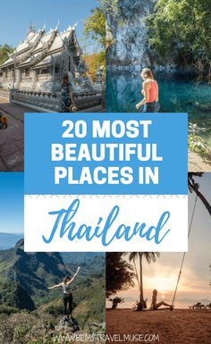 Check out the 20 most beautiful places in Thailand, some of which are totally off the beaten path. From pagodas floating in the sky, a cenote, to the most stunning Thai islands, these places should be on your Thailand bucket list   Be My Travel Muse   Thailand travel tips   backpacking Thailand   Southeast Asia travel