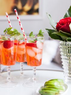 Strawberry Gin Mojito the perfect Valentine