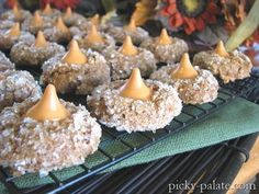 Pumpkin Spice Kisses! 1 box Spice cake mix. 1 can Libbeys pumpkin, 1/2C. sugar, Pumpkin Kisses