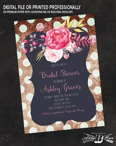 Hey, I found this really awesome Etsy listing at https://www.etsy.com/listing/271635226/floral-bridal-shower-invitation-vintage
