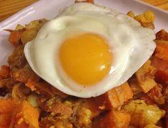 Curried Sweet Potato and Cauliflower Hash (gluten-free, dairy-free, vegan option) - In Johnna's Kitchen