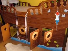 Kinderbett schiff selber bauen  How's that for a bed? www.meinkinderbett.de | Ideas for Boys ...