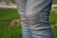 Cómo tapar agujero pantalones