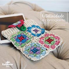 Peças criativas e delicadas é com EuroRoma Fiore. 🇺🇸 Criativity is contagious. #artecomeuroroma #euroroma #euroromafiore #fiore #fio2 #delicadeza #criatividade #croche #artesanato #feitoamao #handmade #crochet #crochetstuff #criativity