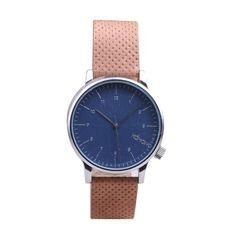 Amazon.com: KOMONO Men's Winston Watch, Blue/Cognac, One Size: Komono: Watches $89.95