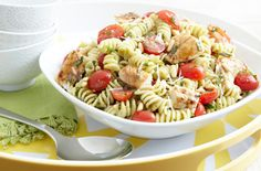 Pesto Pasta Salad with Chicken