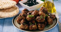 Scrumptious Lamb, Beet & Feta Meatballs The Spiced Beet Hummus is a beautiful spice blend created to enhance the flavours in all of your dishes. Features Gyro Spice, Spiced Beet Hummus Mix, and Seasoned Salt. Cyprus Food, Greek Meatballs, Grilled Halloumi, Beet Hummus, Ayia Napa, Meatball Recipes, Greek Recipes, Sweet Desserts, Food Dishes