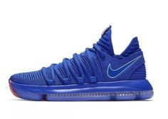 Nike Zoom KD 10 Mens Size 10 Basketball Shoes Blue City Edition  28c71b917