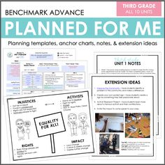 Planned for Me: Third Grade (Benchmark Advance)