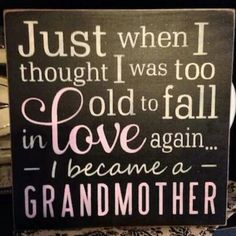 I'm going to be a grand-ma, YITIDEE!!!