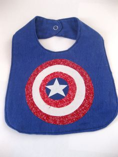 Captain America Shield Bib by sharedjelly on Etsy, $5.95