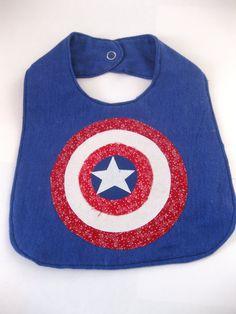 Captain America Shield Bib by sharedjelly on Etsy, $5.95