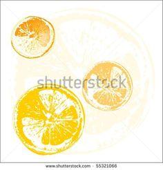 #Orange #slices #illustration #fresh #drink #lemon #juice