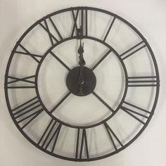 Nuevos Grandes Hierro Negro Esqueleto Reloj De Pared Números Romanos Cocina de Casa Decor 40cm