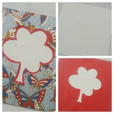 Butterflies. Tree. Red #card