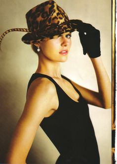 Ralph Lauren leopard fedora with sweeping pheasant feather ~ F/W 2008