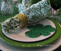 JBigg's Little Pieces: An Irish Blessing For A St. Patty's Tablescape