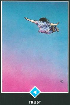 The trust card is from the Osho Zen Tarot deck. It's about trusting that all will work out in the end.