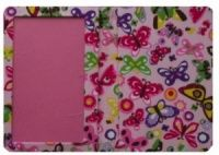 Pink Butterfly Print Passport Cover