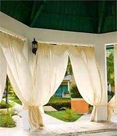 Forged iron curtain c rings estate collection - Custom made outdoor curtains ...