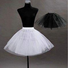 New Short Petticoat Crinoline Underskirt Tutu Bridal Wedding Dress Skirt Slips #Petticoat